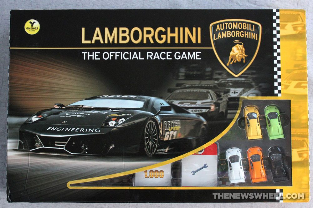 Official Lamborghini Board Game review racing cars box buy