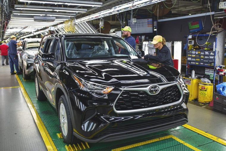 Toyota Highlander at Toyota Motor Manufacturing Indiana