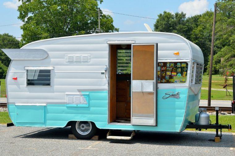 restored camping travel trailer
