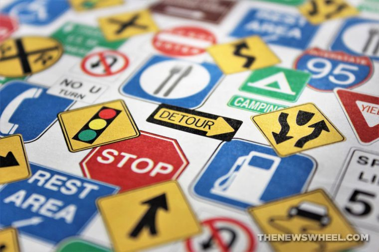 collection of road sign images