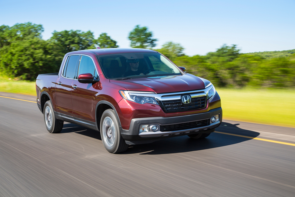 The 2020 Ridgeline was a top performer in Honda's January sales