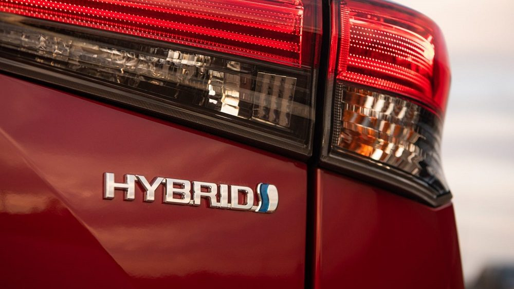 2020 Toyota Highlander Platinum Hybrid AWD, hybrid logo