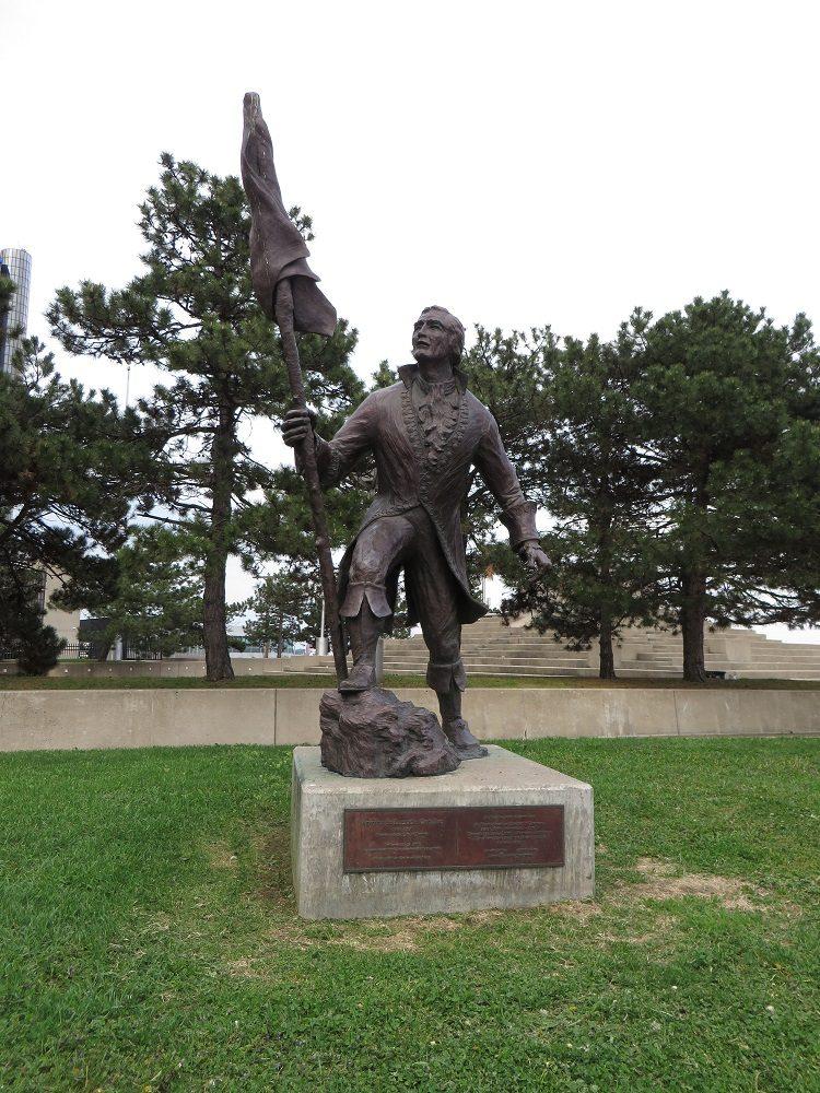 statue of Antoine de la Mothe Cadillac