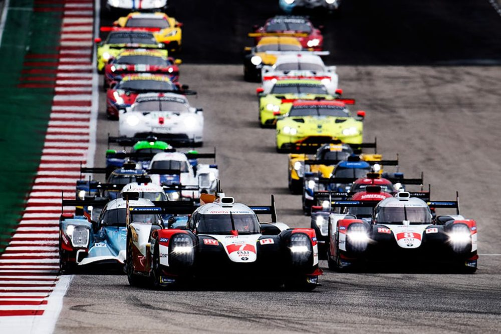 No 7 and 8 Toyotas at 2020 Lone Star Le Mans in Austin