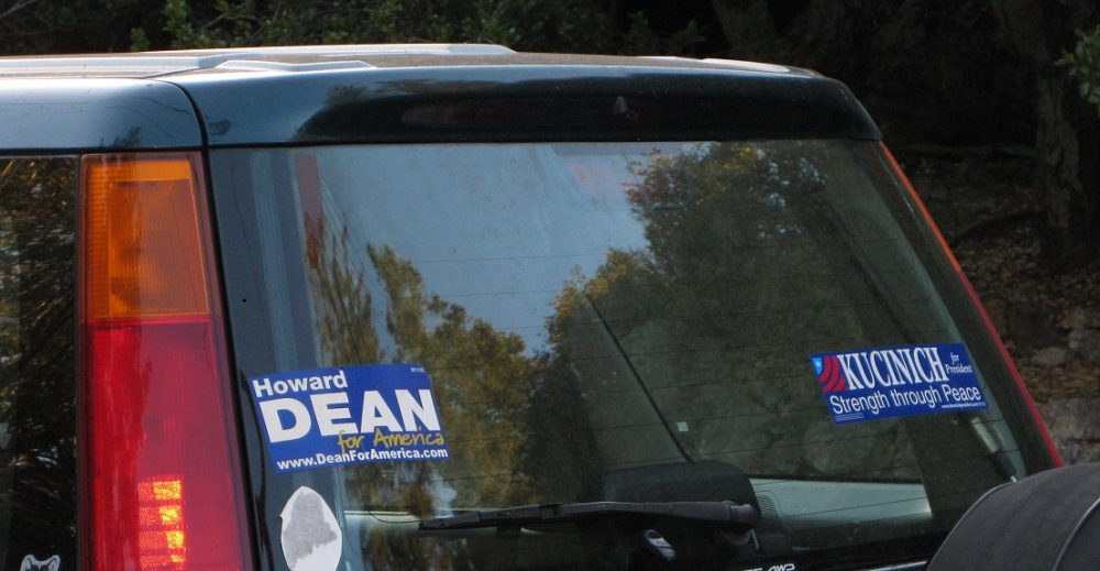 Bumper stickers for outdated political campaigns