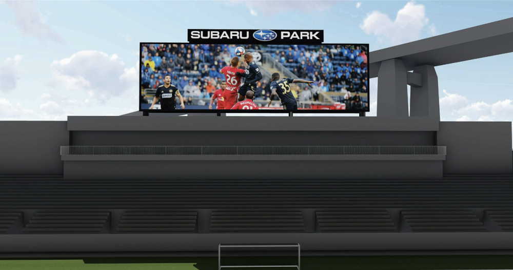 The state-of-the-art video board at Subaru Park
