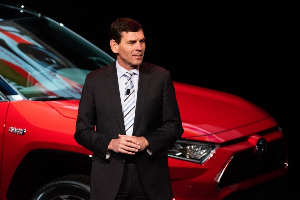 Toyota Canada CEO Larry Hutchinston at 2020 Canadian International Auto Show