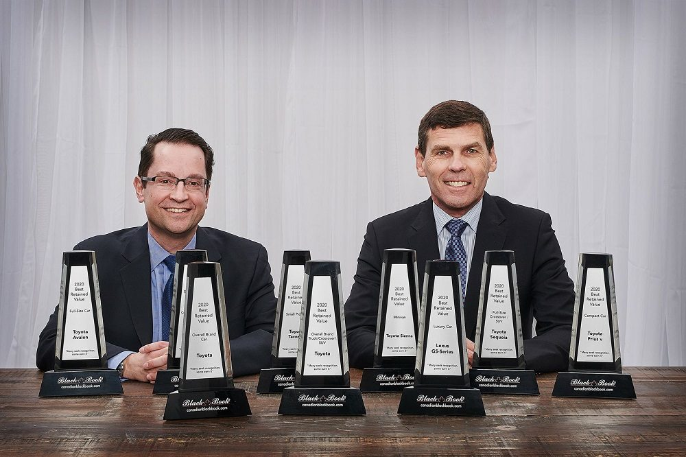 Toyota Executives with 9 CBB Best Retained Value Awards