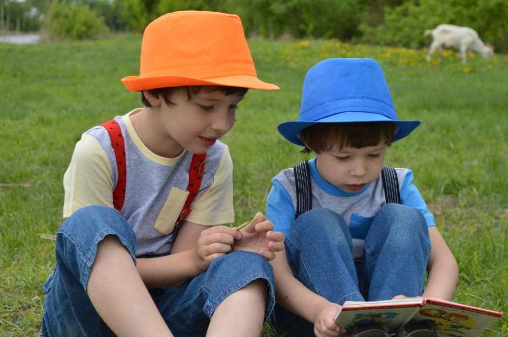 kids children reading books