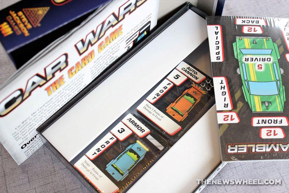 Car Wars Card Game Review Steve Jackson Vehicle Battle box components