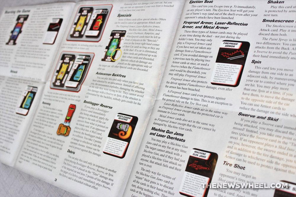 Car Wars Card Game Review Steve Jackson Vehicle Battle instructions directions