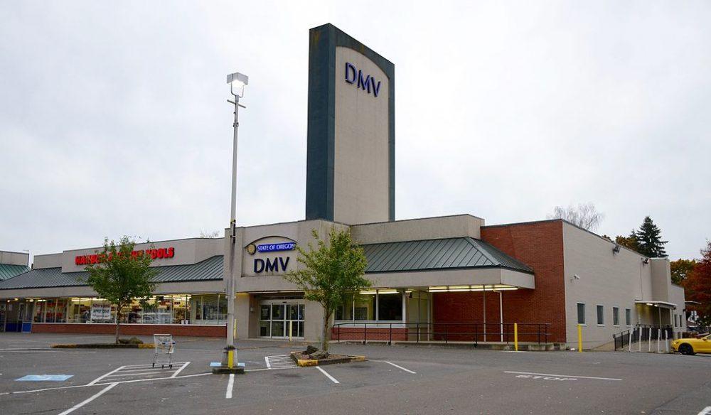 DMV office. Georgia waives road test.