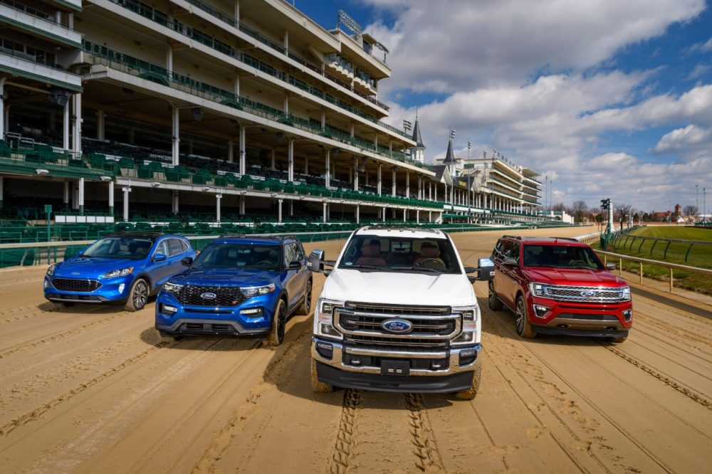 Ford lineup at Churchill Downs