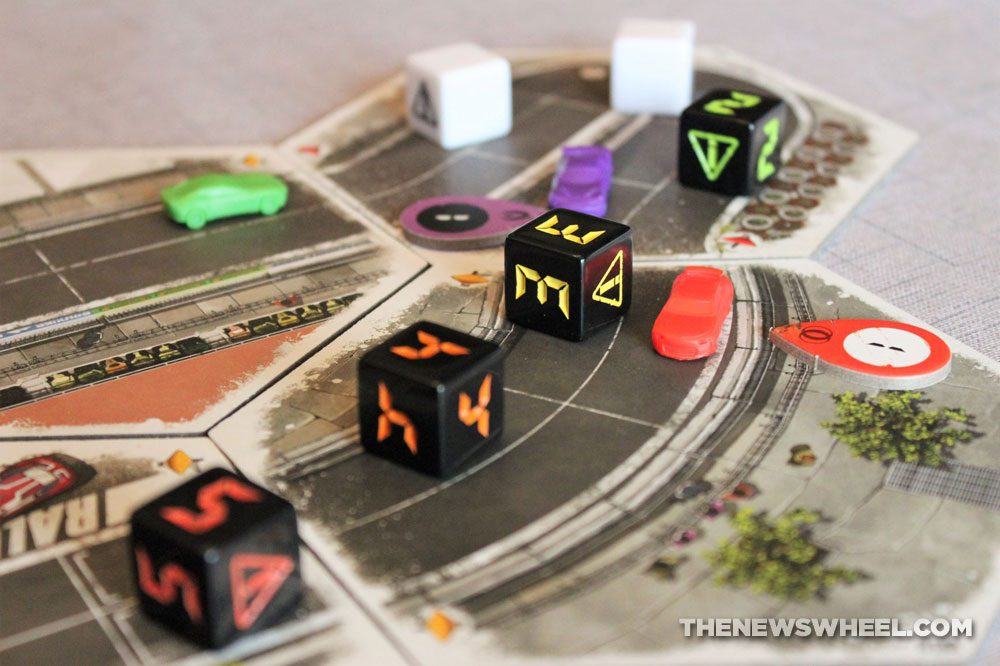 Rallyman GT review 2020 Holy Grail Games racing board game dice track race