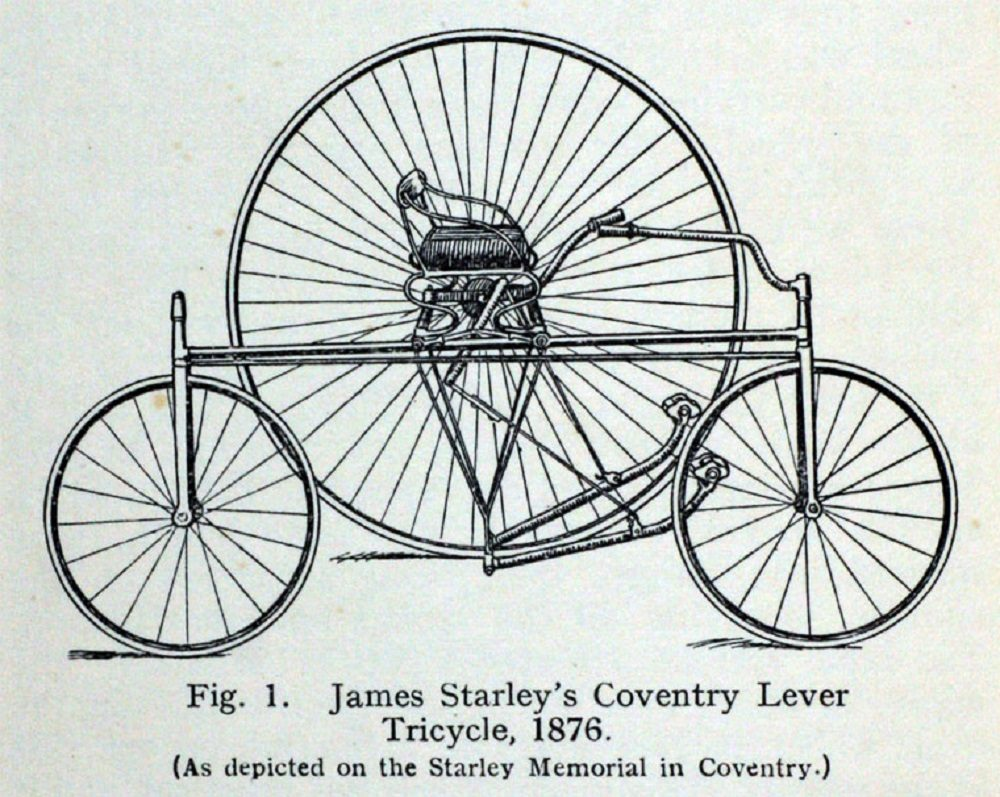 The Starley Coventry Lever Tricycle, the basis of the first electric vehicle