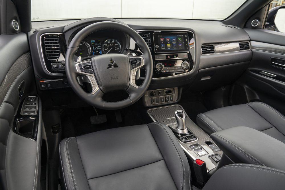 The interior of the 2019 Mitsubishi Outlander PHEV. Outlander PHEV makes Best Plug-in Hybrid list