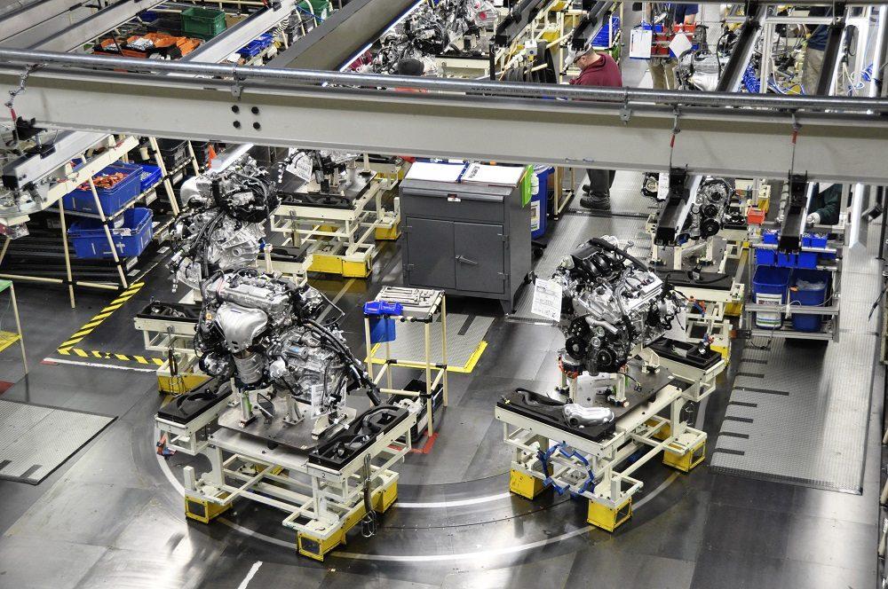 Engine line at Toyota Motor Manufacturing Kentucky