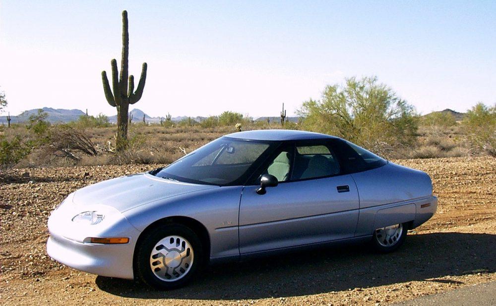 A gray 1999 GM EV1