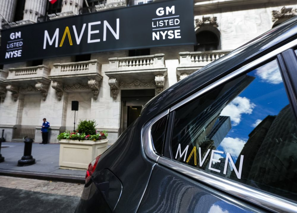 Maven in New York City. COVID-19 ends Maven ride-sharing service
