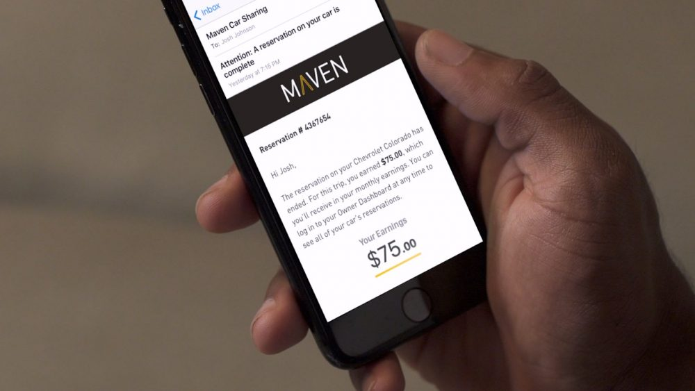 Maven on a smartphone. COVID-19 ends Maven ride-sharing service