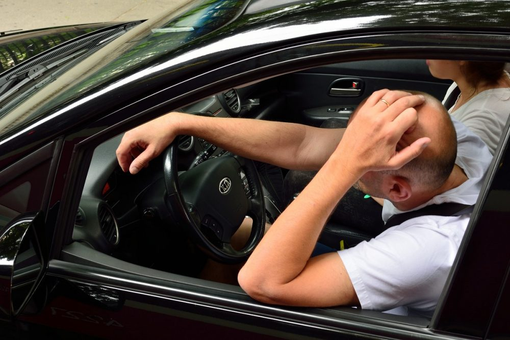 driving while sick drowsy impaired