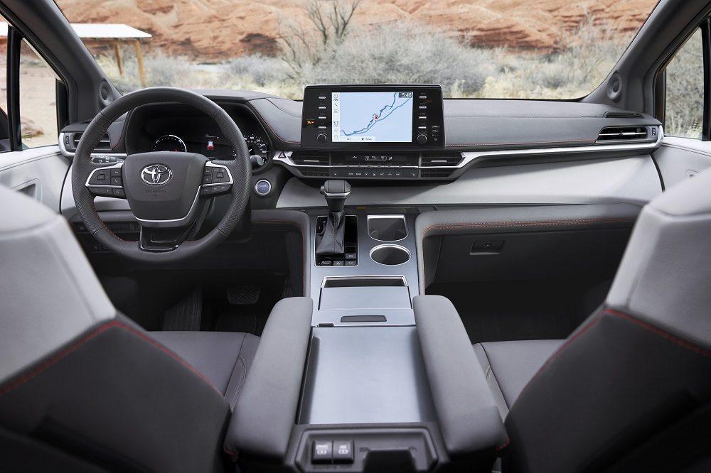 2021 Toyota Sienna XSE interior (cockpit)