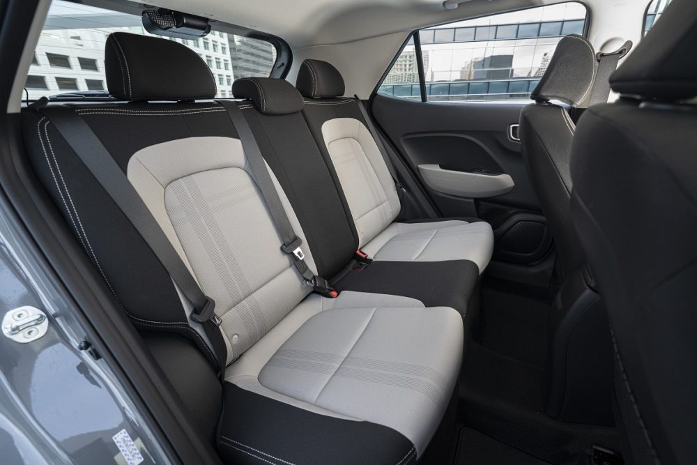Hyundai Venue second-row seats