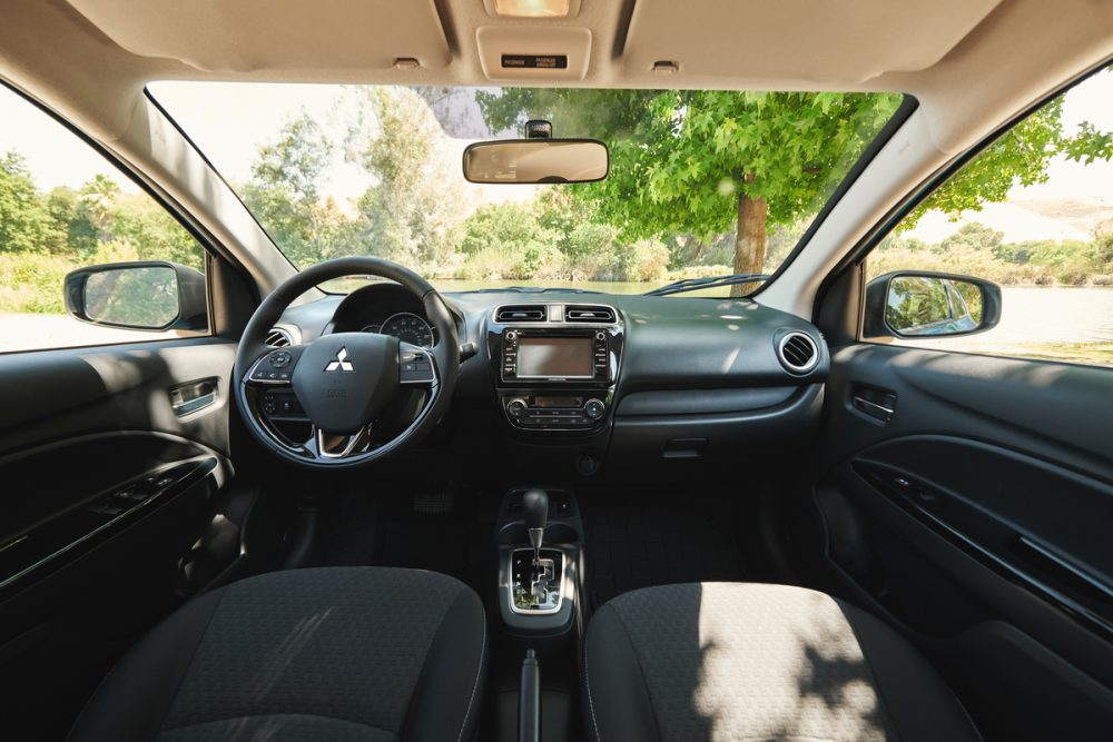 2020 Mitsubishi Mirage interior. Accessories for your 2020 Mirage