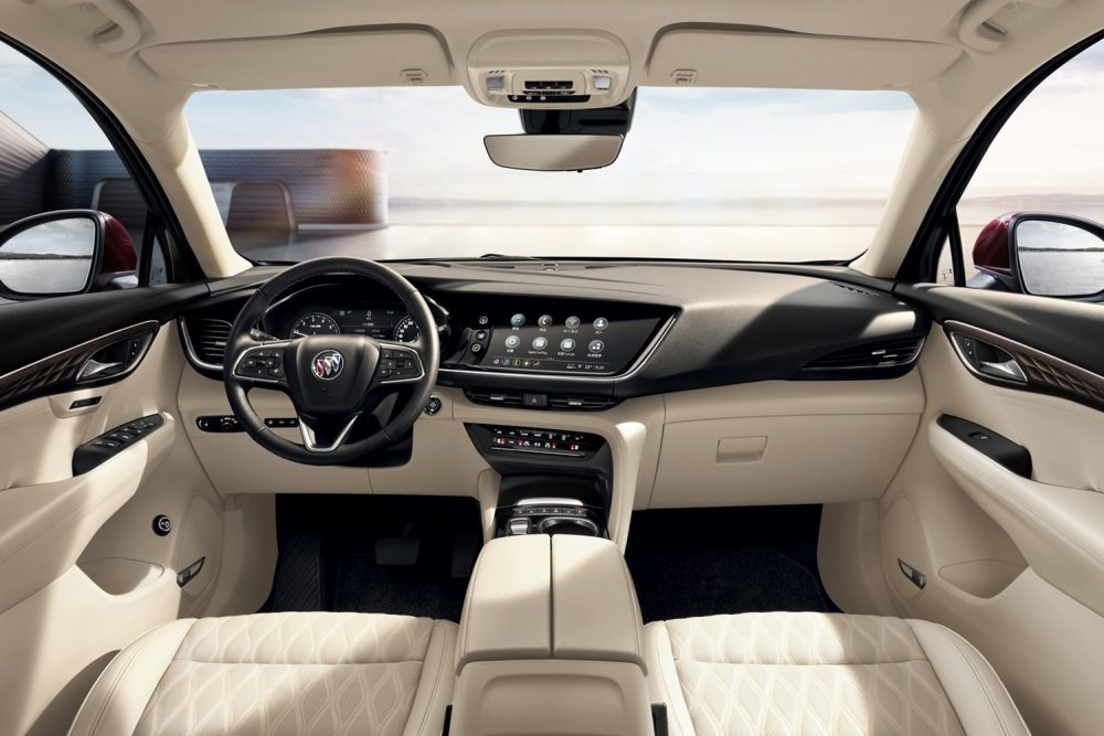 The interior of the 2021 Buick Envision