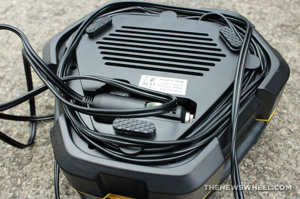 Audew portable air compressor pump review digital tire inflator cords