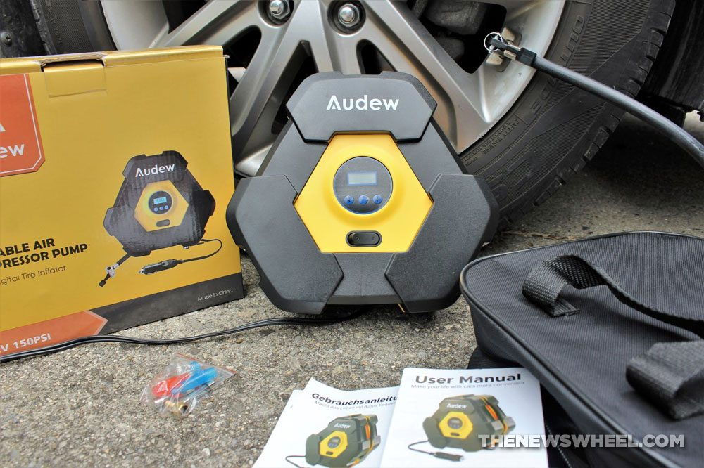 Audew portable air compressor pump review digital tire inflator purchase buy