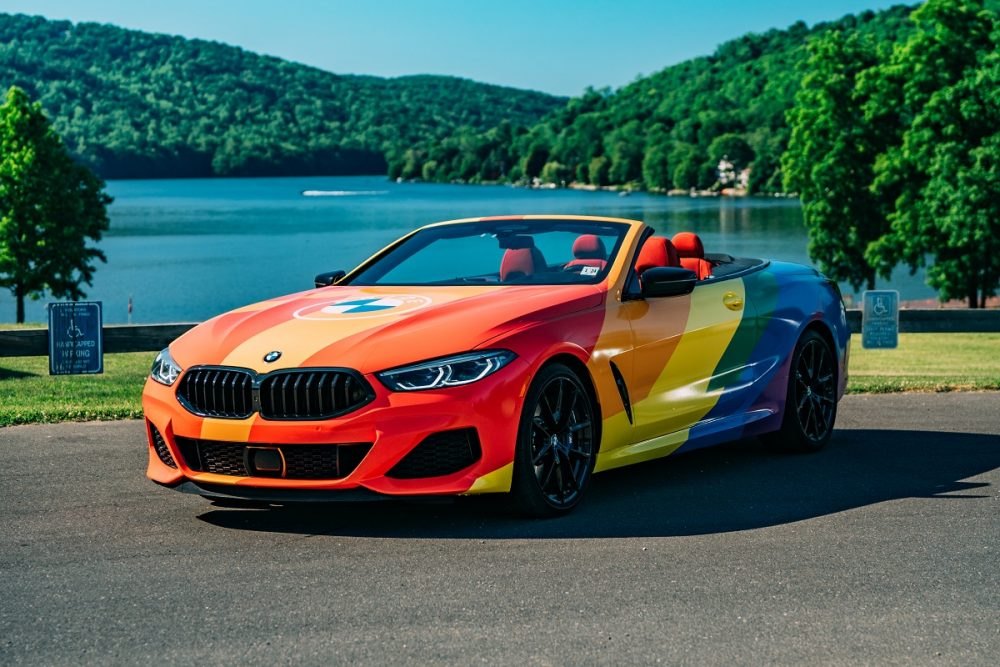 BMW LGBTQ Driven By Pride Rainbow M8