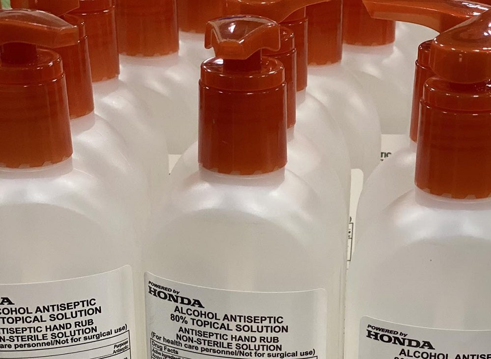 Honda Hand Sanitizer Bottles