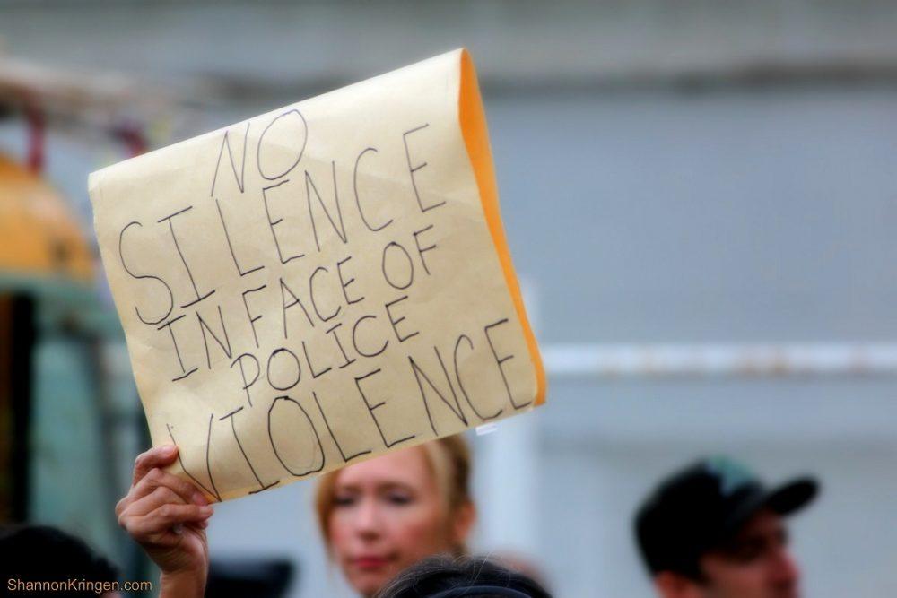 black lives matter protest police violence silence