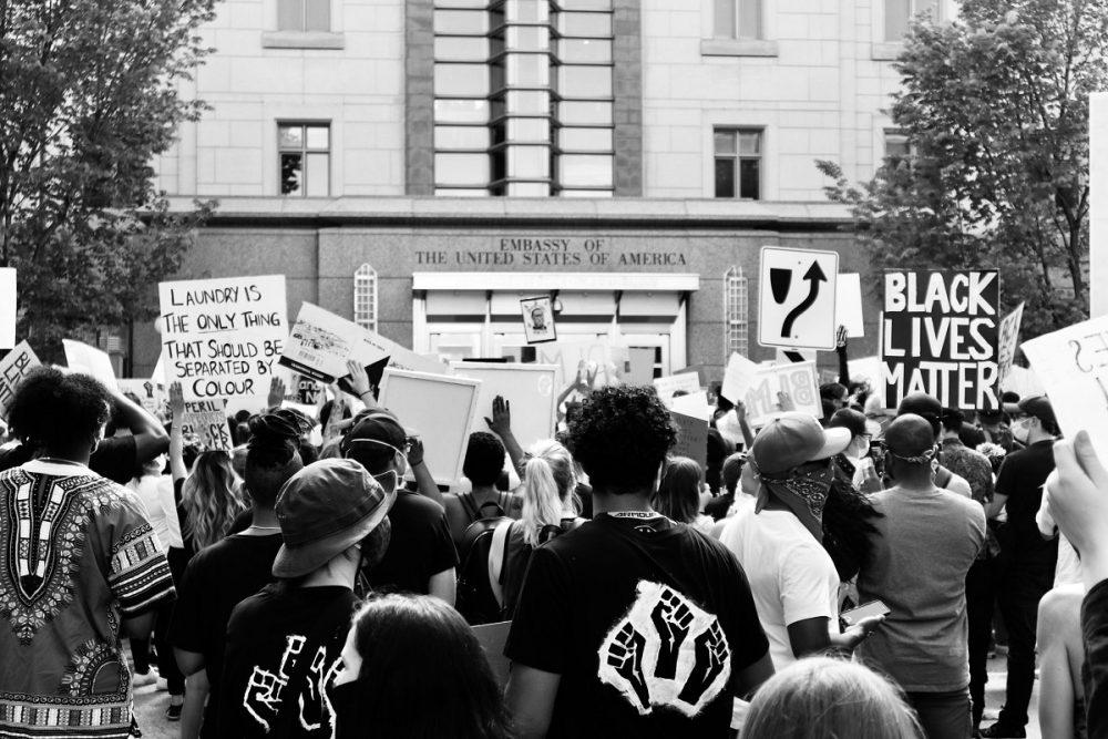 black lives matter protest united states embassy