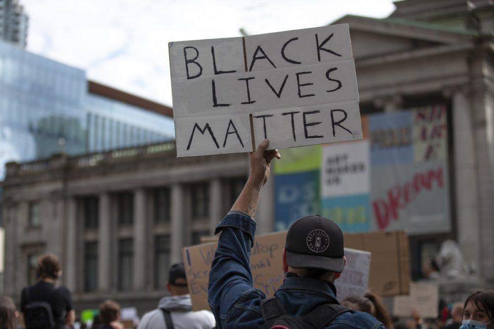 black lives matter protest vancouver canada