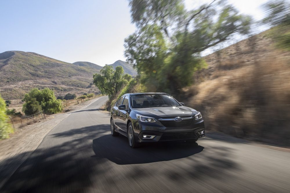 A 2020 Subaru Legacy, a member of the Wards Best UX list