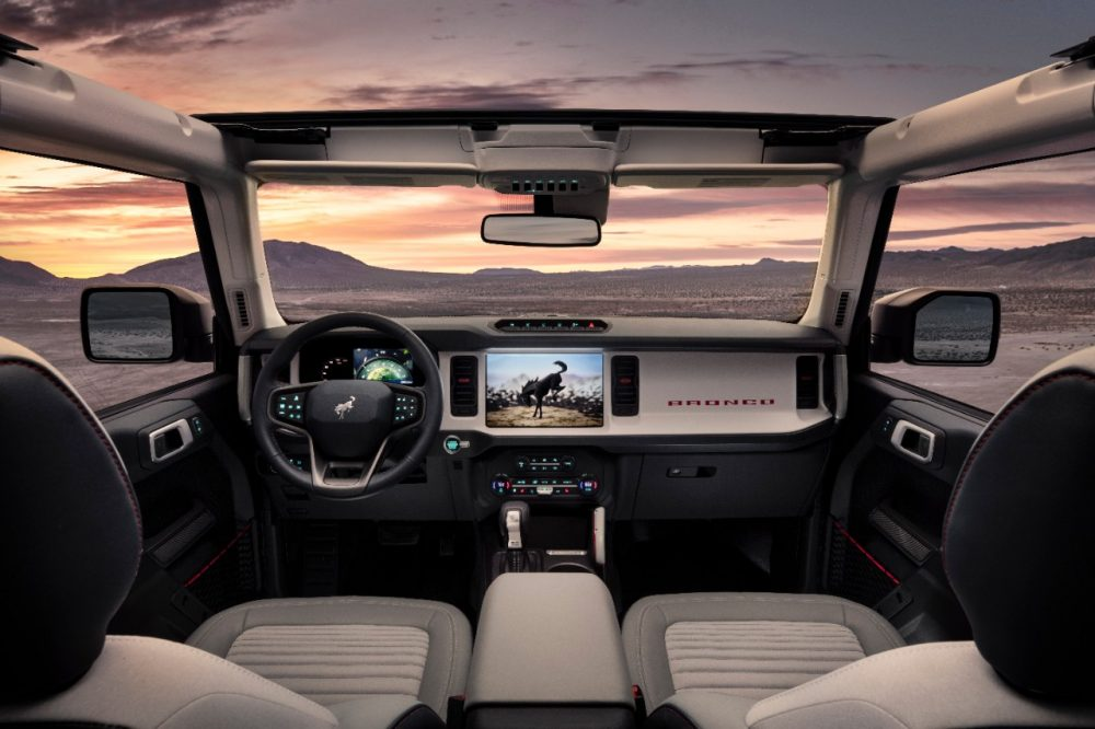 2021 Ford Bronco four-door interior