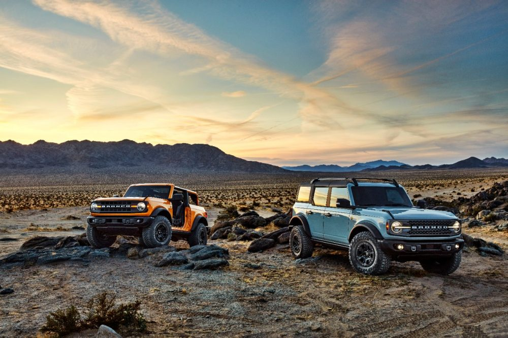 2021 Ford Bronco two-door and four-door