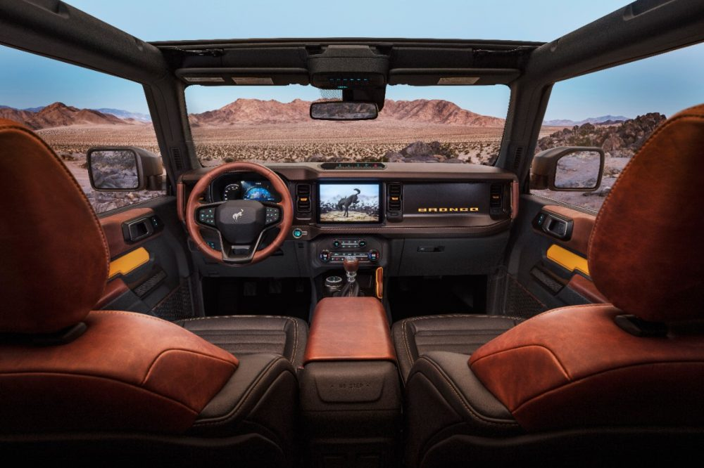 2021 Ford Bronco two-door interior
