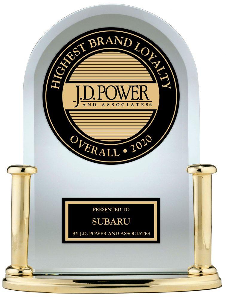Subaru earns J.D. Power's Best Brand Loyalty Award