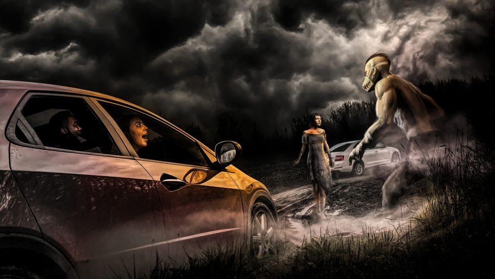 The Haunted Road drive-thru Halloween experience