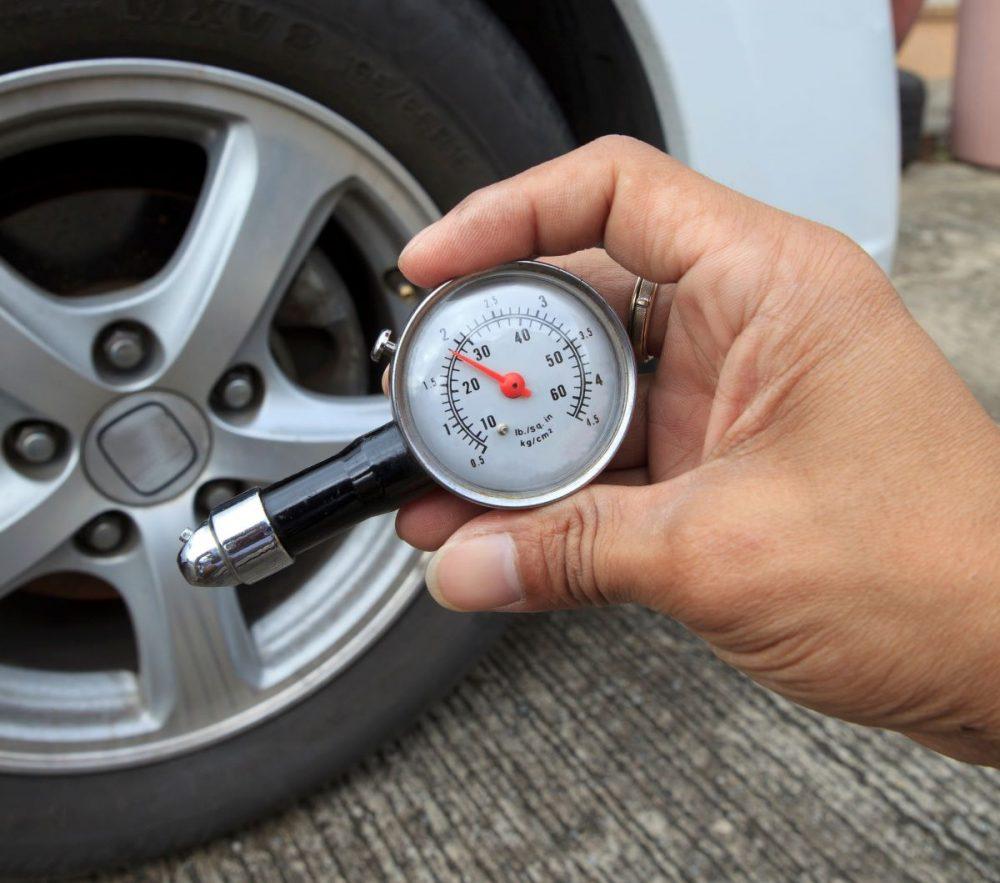 A tire pressure gauge, which the air pump near my apartment sorely lacks.