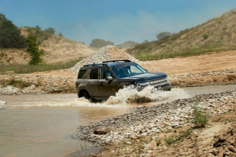 2021 Ford Bronco Sport action shot