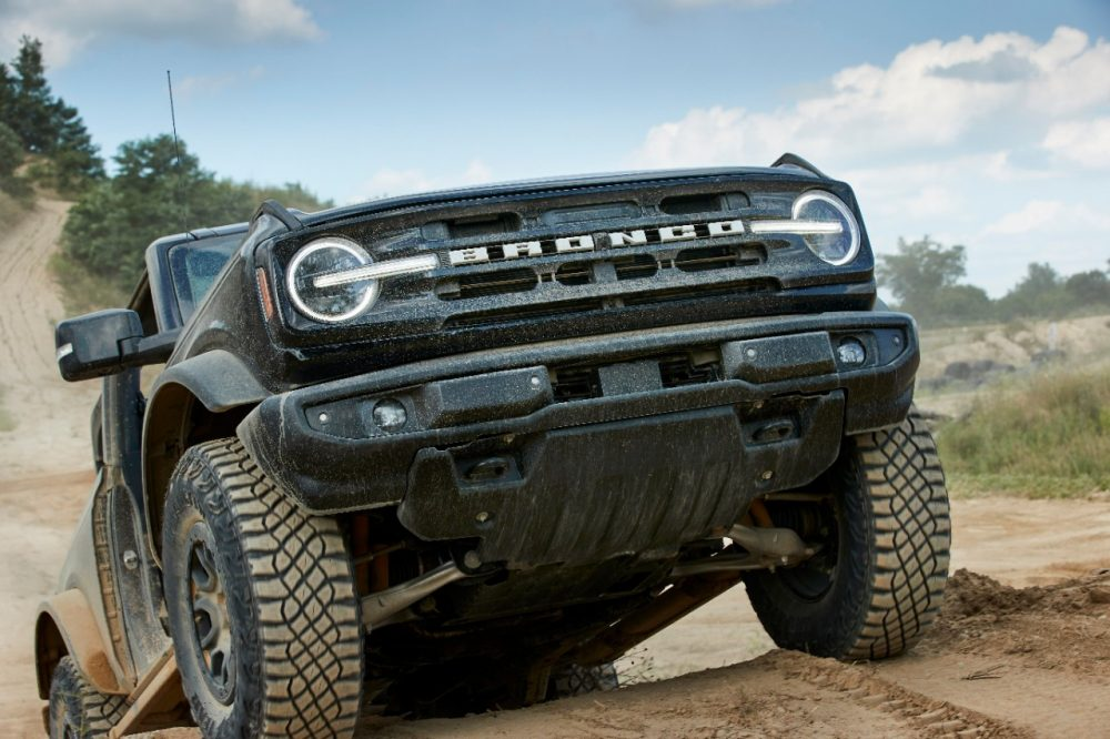 2021 Ford Bronco two-door action shot