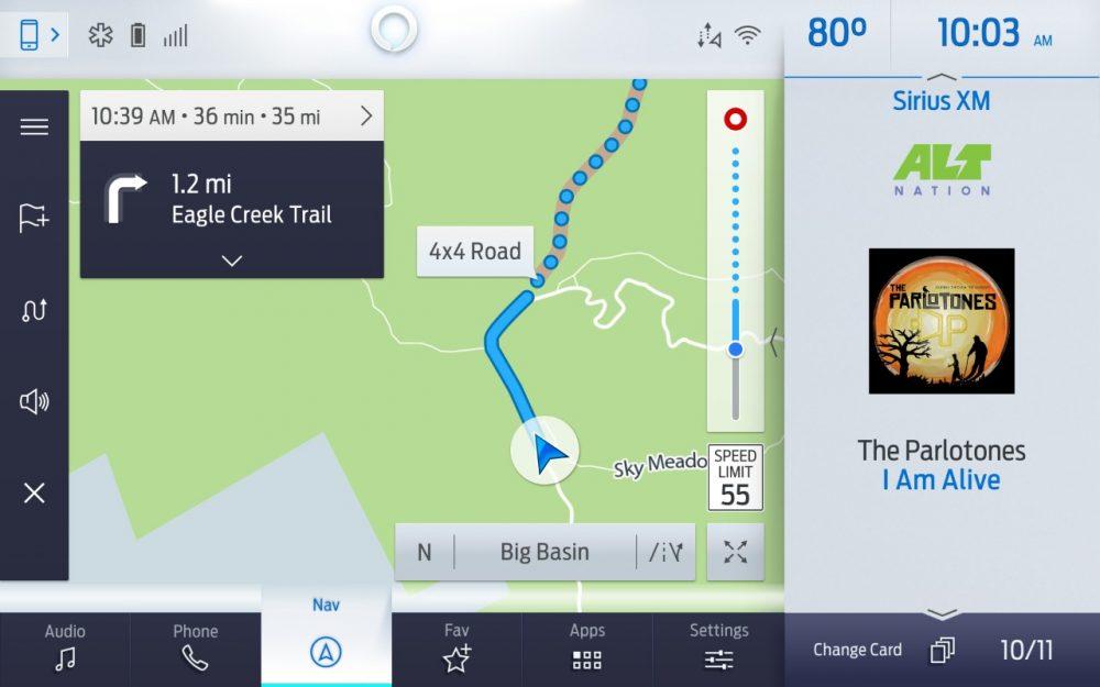 Ford Bronco Off-Road Active Guidance | Telenav navigation F-150 Bronco