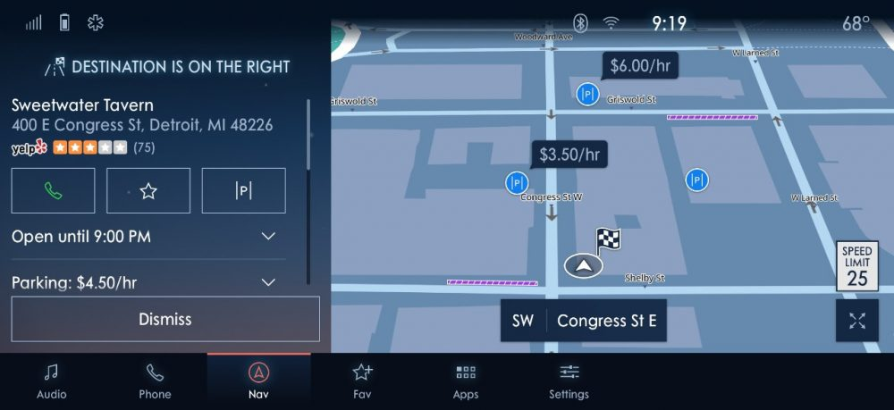 Ford SYNC 4 INRIX Parking