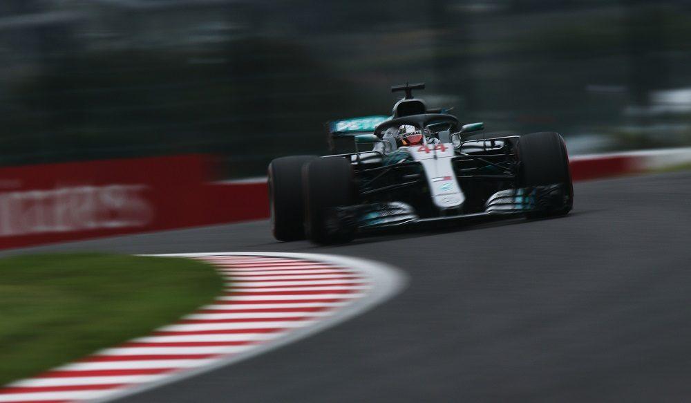 Lewis Hamilton during FP2 at 2018 Japanese GP
