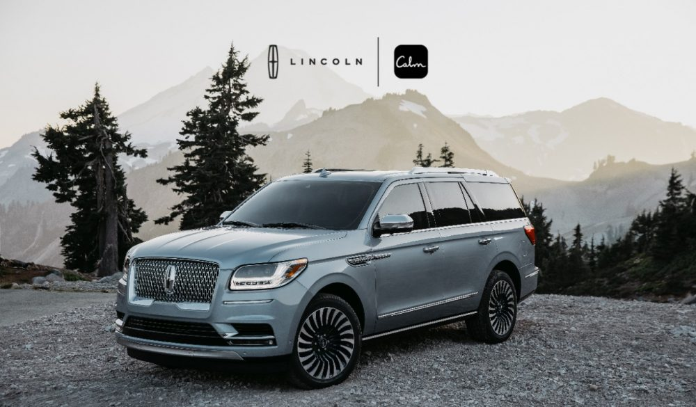 Lincoln Navigator Calm brand partnership