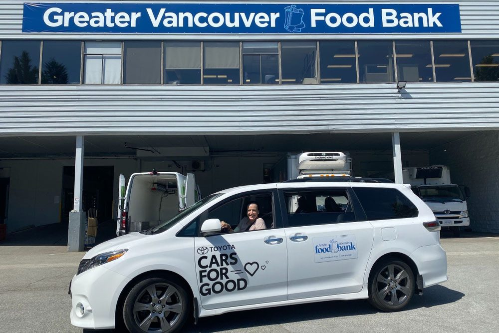 Toyota Sienna loaned to Greater Vancouver Food Bank